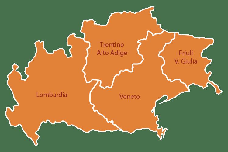 mappa regioni partner sgf